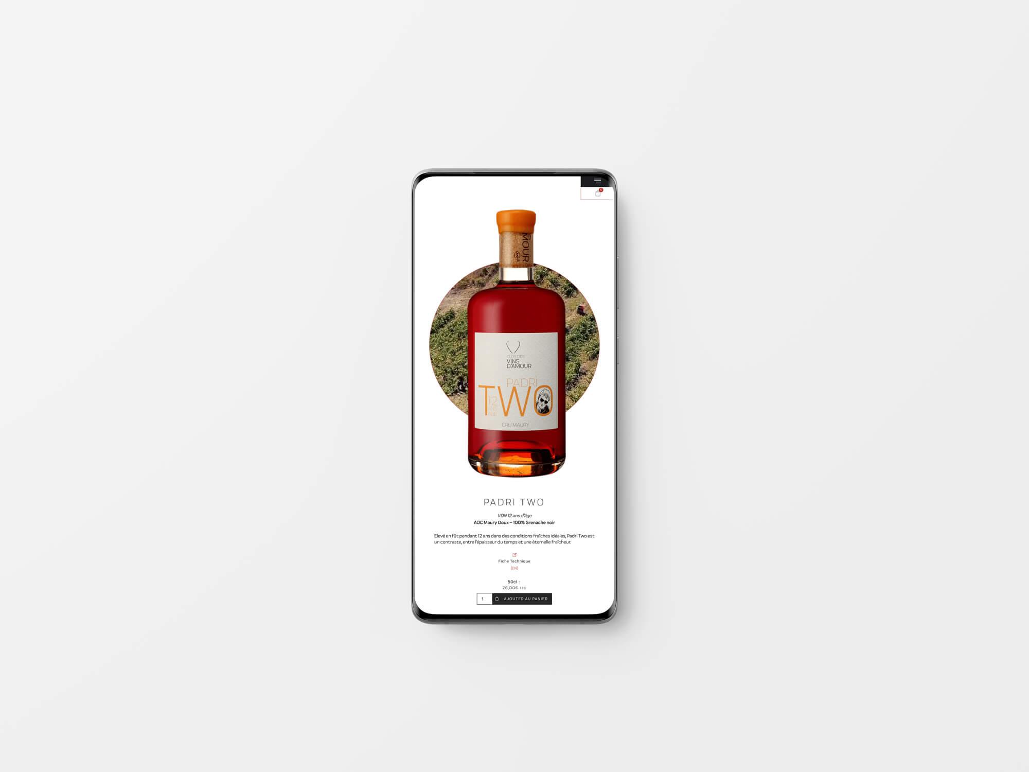 création site web clos des vins d amour