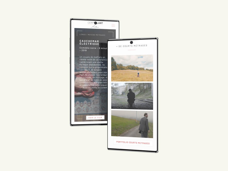 responsive design iphone cerfvolant
