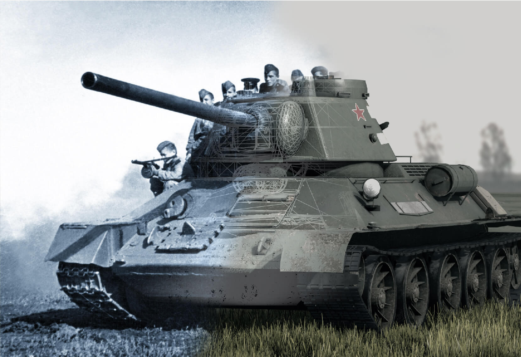 création 3d serie tanks roi des champs de bataille